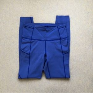Lululemon moroccan blue 7/8 fast and free tight